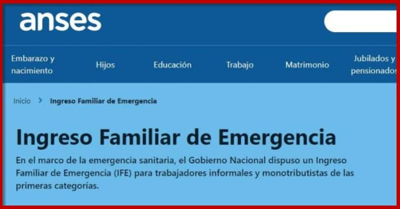 Telefono Ingreso Familiar de Emergencia