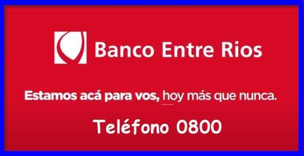 Nuevo Banco de Entre Rios 0800 Telefono