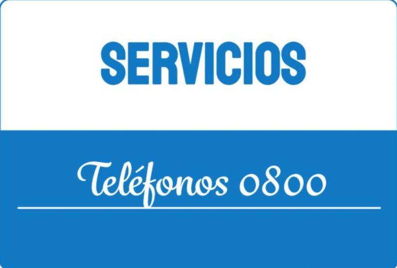 Servicios Telefonos 0800