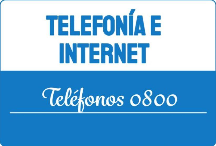 Telefonía e Internet Telefono 0800